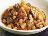 Diced Lamb with Chickpeas recipe