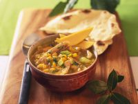Diced Mango and Duck Soup recipe