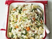 Dish of Vegetable Rice and Tofu recipe