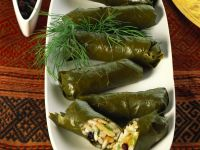 Dolmades (Grape Leaves Stuffed with Rice) recipe