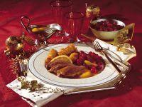 Duck à L'orange with Candied Cranberries recipe