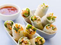 Duck and Veggie Rolls recipe