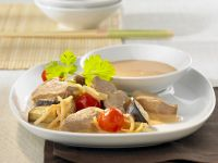 Duck Breast with Bamboo Shoots, Tomatoes and Coconut Milk recipe