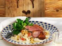 Duck Breast with Celery Salad and Pears