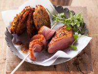 Duck Breast with Lentil Fritters recipe