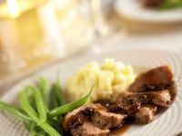 Duck Breast with Mashed Potatoes and Green Beans recipe