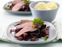 Duck Breast with Pineapple Cabbage recipe
