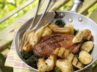 Duck Breasts with Grilled Pears