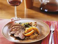 Duck Breasts with Maple Syrup and Vegetables