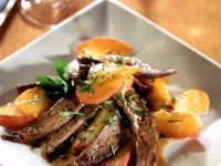 Duck Breasts with Peaches recipe