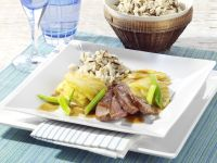 Duck Breasts with Pineapple and Rice recipe