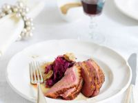 Duck Breasts with Red Cabbage and Chestnuts recipe