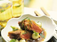 Duck Breasts with Red Wine Gravy and Turnips recipe