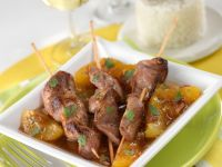 Duck Kebabs with Stone Fruit