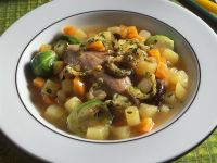 Duck Leg Stew with Potatoes, Carrots and Brussels Sprouts recipe