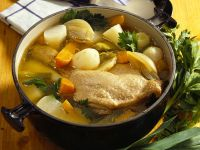 Duck Soup with Teltow Turnips recipe