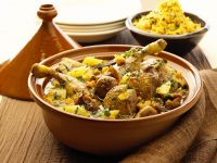Duck Tagine with Apricots, Figs, and Honey recipe