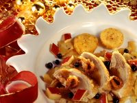 Duck with Potato Pancakes and Fruit Sauce