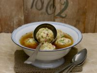 Dumplings with Italian Ham Served in Broth recipe