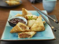 Dumplings with Meat Filling and Plum Sauce recipe