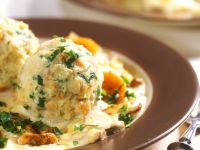 Savoury Bread Balls with Creamy Sauce recipe