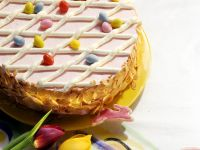 Easter Cake with Peaches and Cream recipe