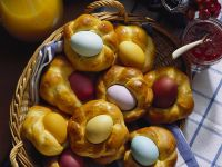 Easter Eggs in Bread Nest recipe