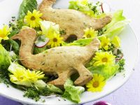 Easter Salad with Savory Crackers recipe