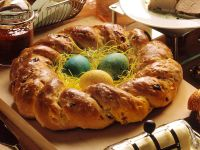 Easter Twisted Bread with Raisins recipe