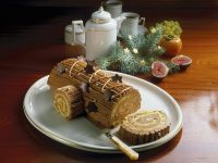 Bûche De Noël (Yule Log Cake) recipe
