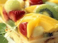 Mixed Fruit Sponge Squares recipe