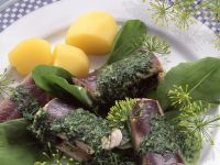 Eel with Green Herb Sauce and Boiled Potatoes recipe