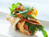 Egg and Feta Roll-ups recipe