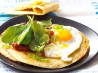 Egg and Green Leaf Crepes recipe