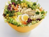 Egg, Chicken, and Sweetcorn Salad recipe