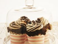 Egg-free Double Chocolate Frosted Cupcakes recipe