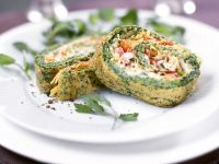 Egg Omelette Roll with Salmon recipe