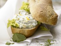 Egg Salad on Baguette recipe