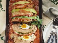 Egg-Stuffed Meatloaf with Tomato Sauce recipe