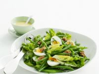 Egg, Walnut, and Green Vegetable Salad recipe