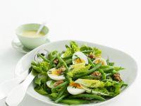Egg, Walnut, and Green Vegetable Salad recipe