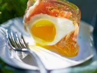 Egg with Tomato and Ham Gelatin recipe
