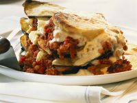 Eggplant and Ground Meat Moussaka recipe