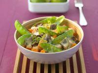 Eggplant and Snow Pea Bowls recipe