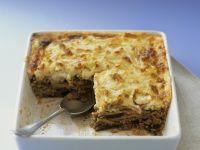 Eggplant Bake with Ground Meat (Moussaka) recipe