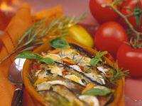 Eggplant Casserole with Tomatoes recipe