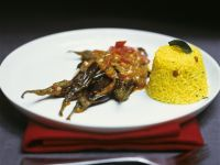 Eggplant Curry with Rice Pilaf