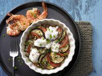 Eggplant Gratin with Marinated Shrimp recipe