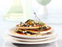 Eggplant Pizzas with Goat Cheese recipe