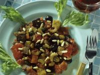 Eggplant Stew with Celery, Olives and Pine Nuts recipe
